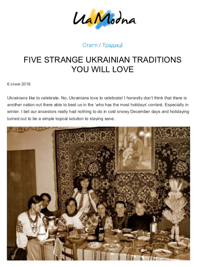 Five Strange Ukrainian Traditions