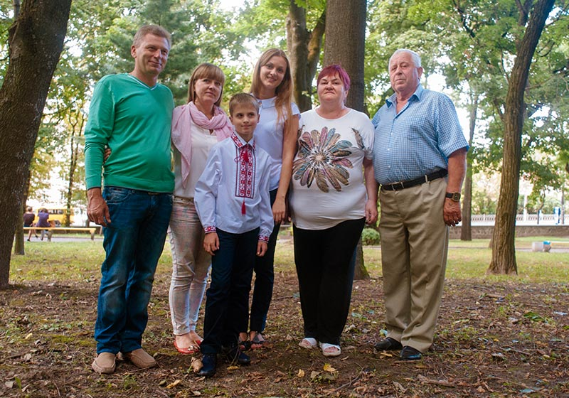 a photo of the Kozachenko family